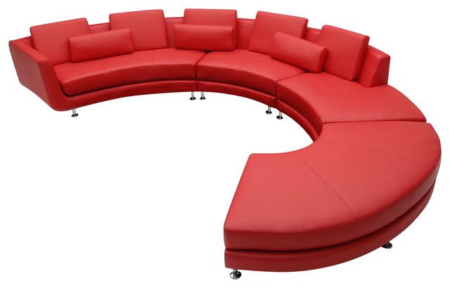 polaris contemporary leather sofa set pillows for divani casa a94 sectional and ...