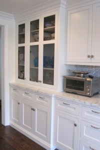Full height kitchen cabinet.