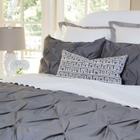 Valencia Charcoal Gray Duvet - Twin/Twin XL - Contemporary ...