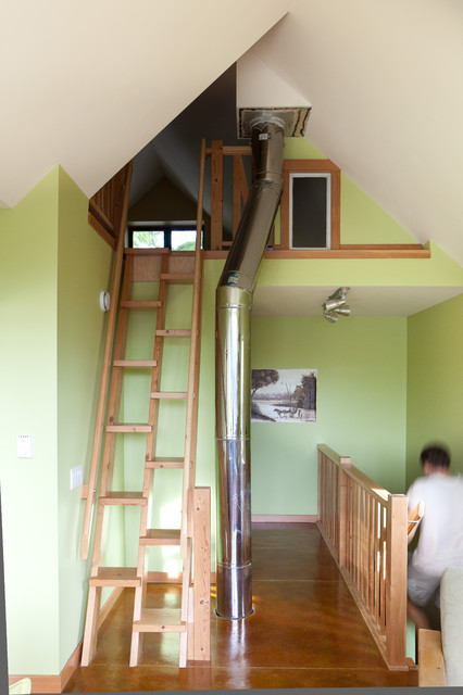 Up To Loft Contemporary Staircase Edmonton By