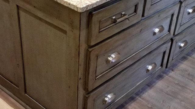 driftwood distressed finish  Traditional  Kitchen