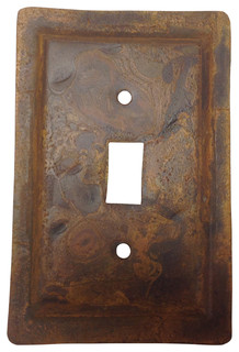 Rustic Tin Switch Plate  Industrial  Switch Plates And