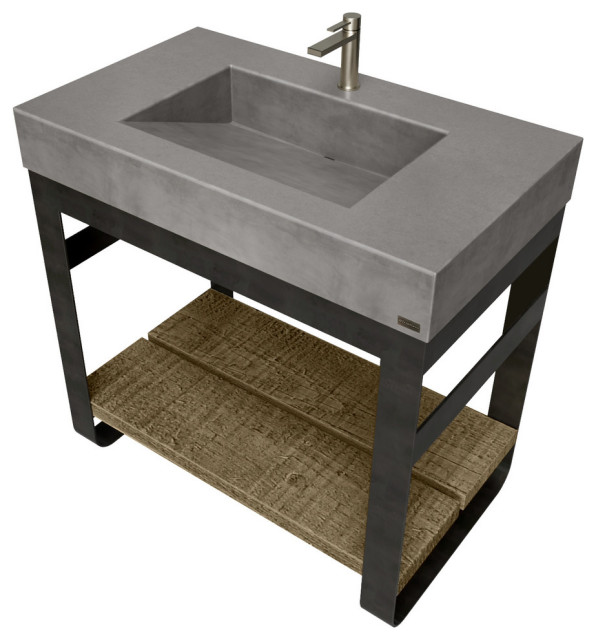 36 outland vanity with concrete ramp sink charcoal