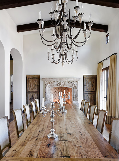 Spanish Accent Home mediterranean-dining-room