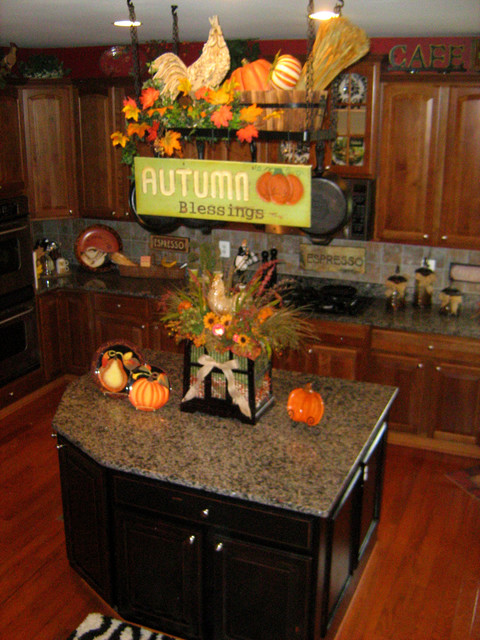 coffee themed kitchen rugs hamptons design decorate your pot rack for fall. - traditional ...