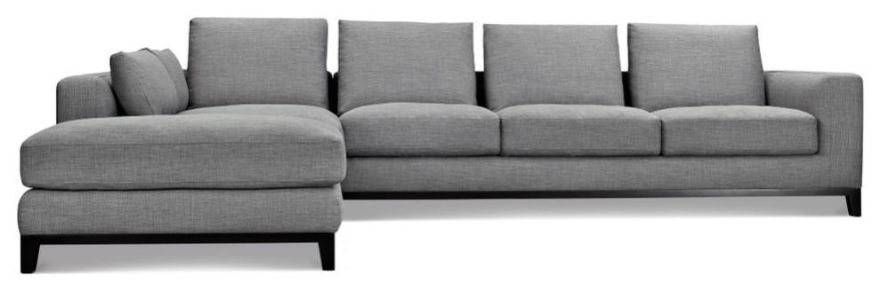 kellan sectional sofa left chaise gray tweed