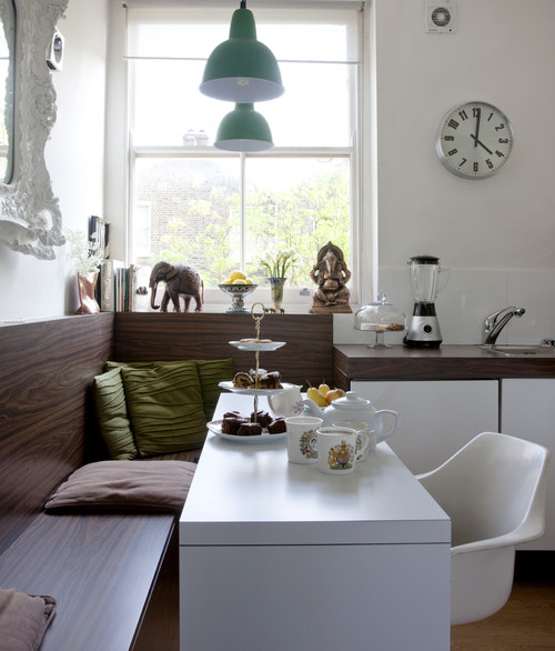 how to design a tiny living room l shaped sofa ideas style small dining area flea market chic