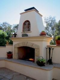 Spanish Style Outdoor Fireplace in Santa Barbara ...