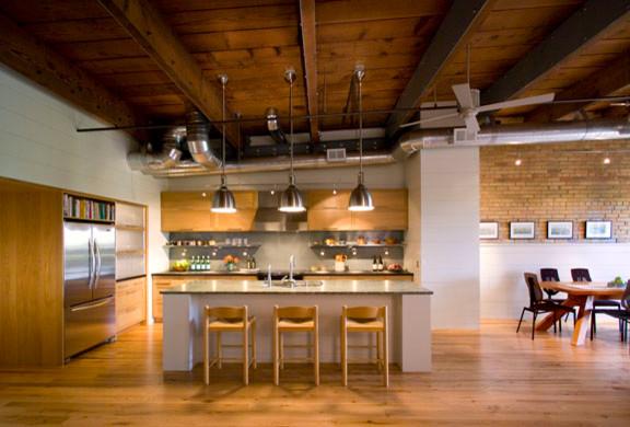 Modern Rustic Loft Contemporary Kitchen Minneapolis
