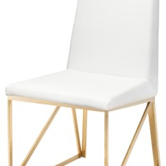 White And Gold Chair Design Youtube Caprice Dining Contemporary Chairs By Nuevo
