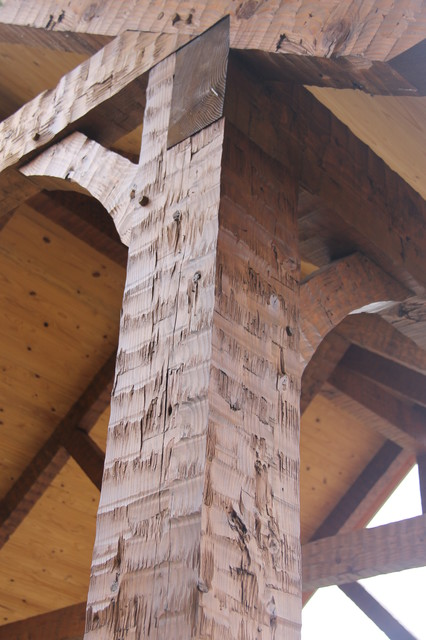 Hand hewn timberframe carport  Rustic  Shed  Nashville