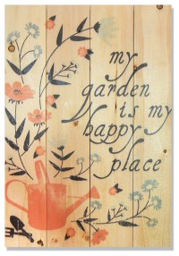Happy Place Indoor/Outdoor Full Color Cedar Wall Art