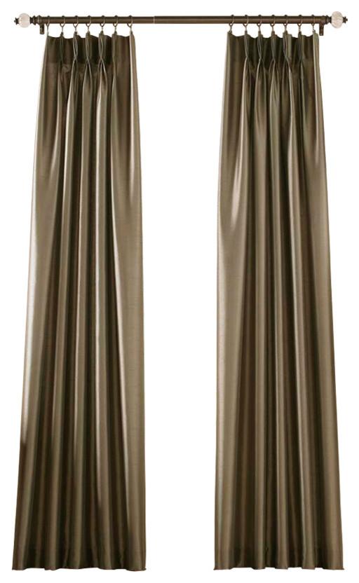 marquee pinch pleat curtain panel bronze 30 x95