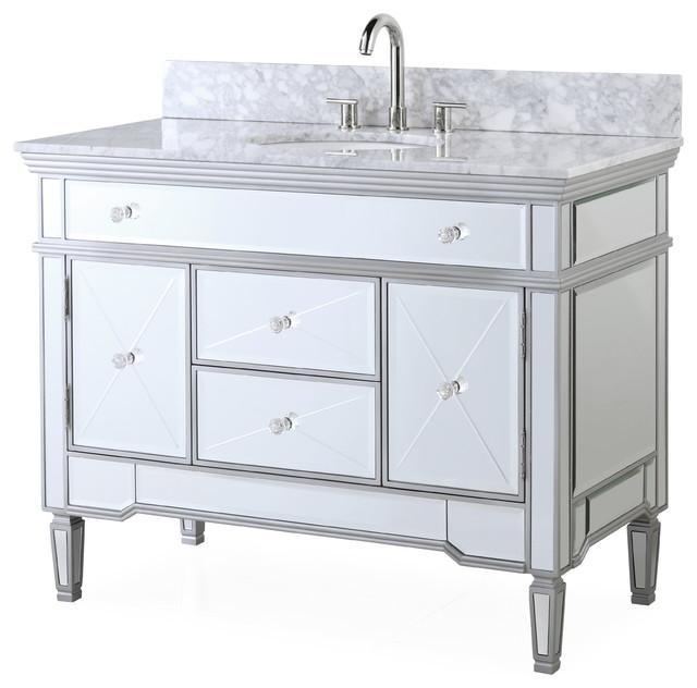 44 austin modern mirrored bathroom vanity