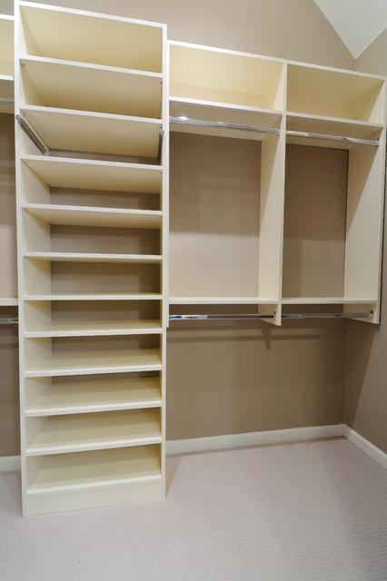 Melamine Closet  Traditional  Closet  atlanta  by CR Home Design KB Construction Resources