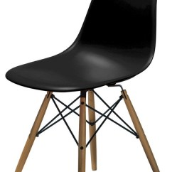 Black Plastic Chair With Wooden Legs Posture Ball Molded Side Wood Leg Base Shell By Lemoderno Dining Chairs In Style Modern