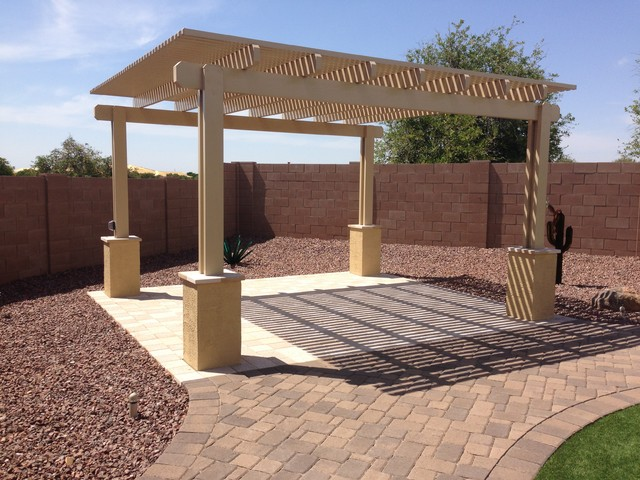 office chairs phoenix arizona vanity stools and outdoor putting green in backyard-mesa-mckeeman project - landscape by dream ...