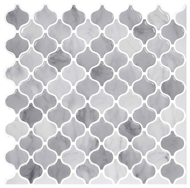 damask marble 12x12 peel and stick wall tile 10 pack