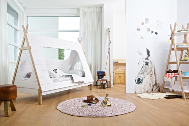 Camping Themed Kids Bedroom Lifestyle scandinavian-kids