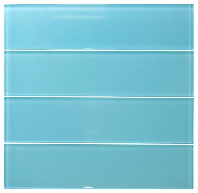 light turquoise glass tile sample