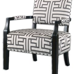 Wood Frame Accent Chairs Mesh Office Chair Costco Terica Geometric Contemporary Armchairs And By Innovations Designer Home Decor Furniture