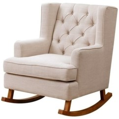 Abbyson Living Thatcher Fabric Rocking Chair In Beige Adirondack Woodworking Plans Transitional Chairs By Homesquare