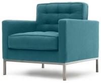 Sullivan Mid Century Modern Chair - Lucky Turquoise Blue ...