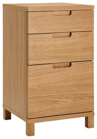 Abacus 3 Drawer Narrow Filing Cabinet - Traditional ...