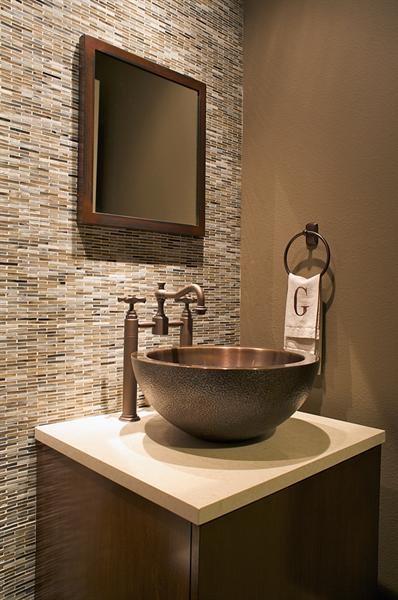 Powder Bath  Modern  Powder Room  Dallas  by Three Graces Interiors