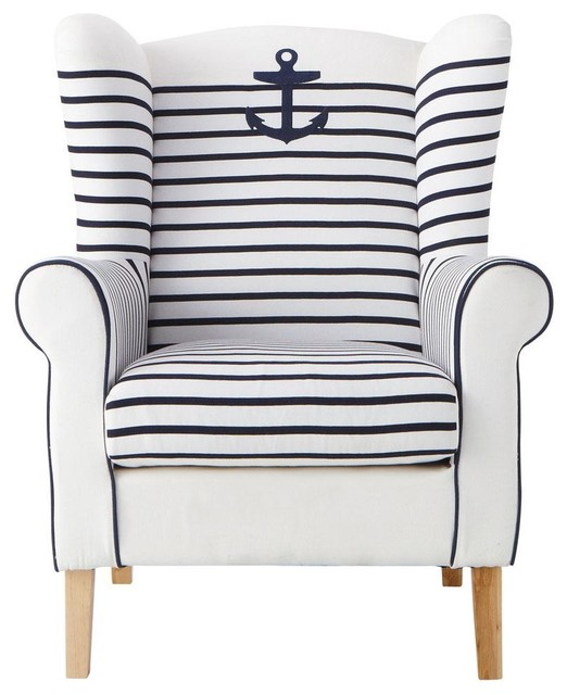 strandmon wing chair review how to clean suede chairs corsaire - contemporary armchairs and accent by maisons du monde