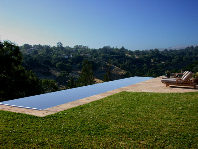Los Altos Hills Infinity Edge Swimming Pool And Spa Traditional Pool San Francisco By