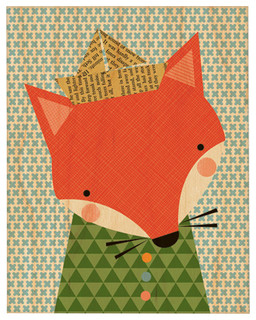 "Shy Fox, Large Unframed, 11""x14"""