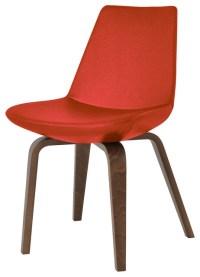 Eiffel Plywood Dining Chair, American Walnut Base, Black ...