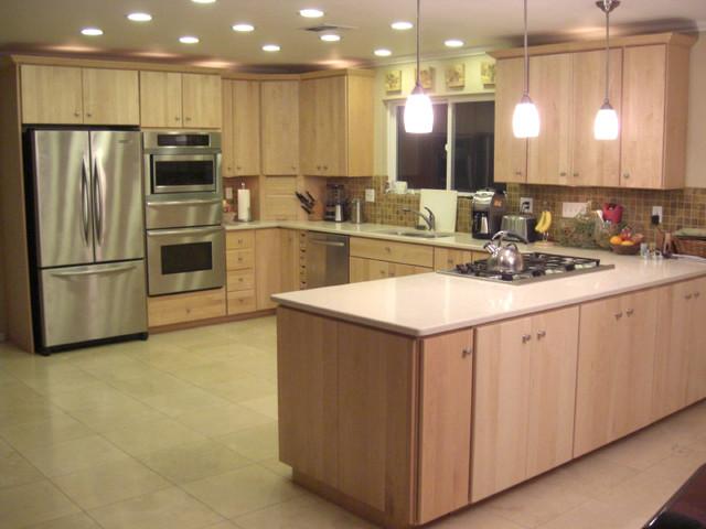 Modern Natural Maple  Modern  Kitchen  Sacramento  by