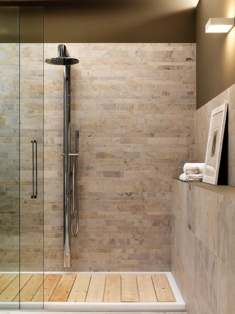 Zen Shower Amp Wainscott Craftsman Bathroom San Diego