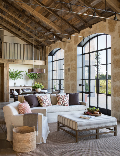 Healdsburg Ranch farmhouse-living-room