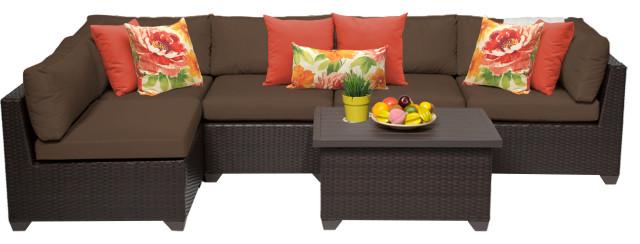 belle 6 piece outdoor wicker patio furniture set 06a