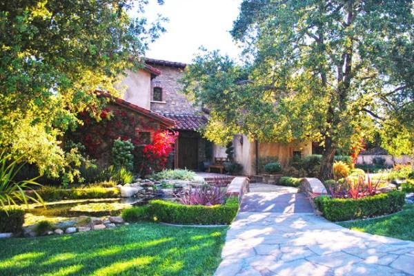 rancho santa fe front yard - craftsman
