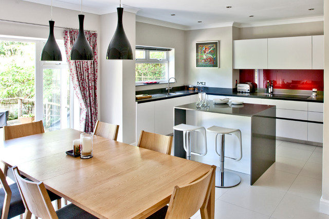 Small Space Big Kitchen Contemporary Dining Room