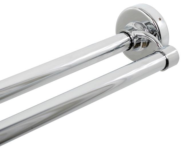 zenna home chrome double shower rod