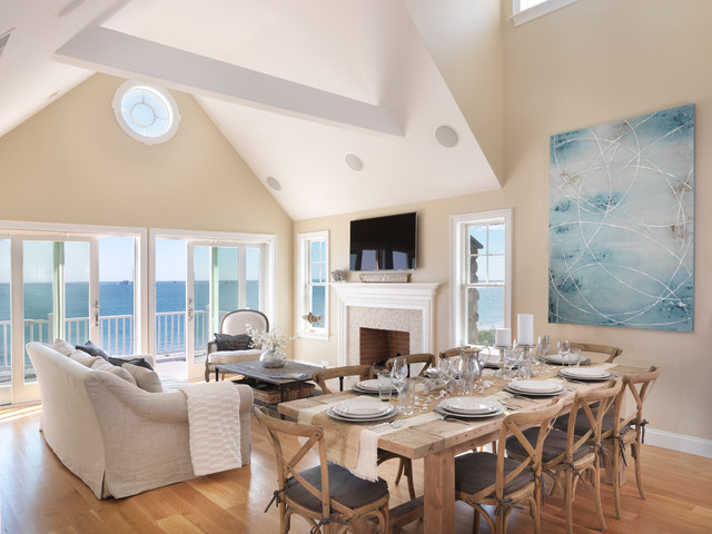 Sand Hill Cove I Beach Style Living Room Providence