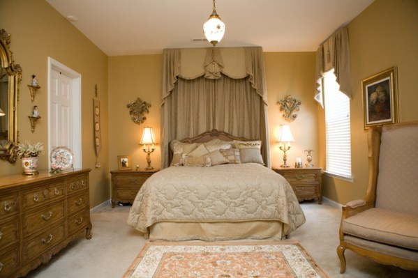 french master bedroom interior design Lavish French Champagne Gold Master Bedroom