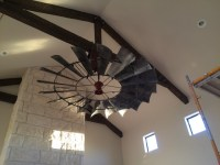 8' Windmill Ceiling Fan- Reproduction Vintage Finish