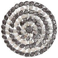 Metal and Capiz Shell Silver Swirl Wall Art - Beach Style ...