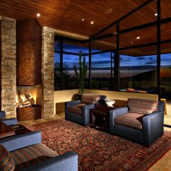Houzz Dining Chairs Contemporary Fuzzy Bean Bag Desert Mountain Estate - Family Room Phoenix By Phx Architecture