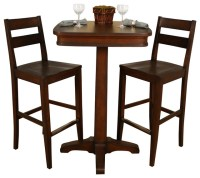 American Heritage Taylor 3-Piece Pub Table Set with Tyler ...