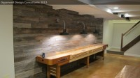 Barnwood Wall - Farmhouse - Basement - Detroit - by ...