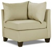 Carolina Accents - Belle Meade Corner Chair, Khaki ...