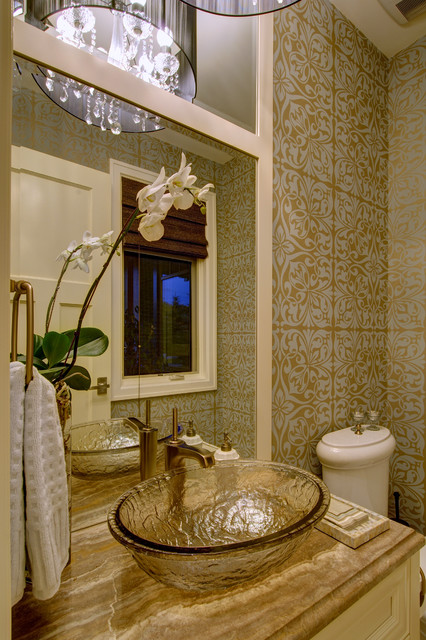 Luxury Living  Traditional  Powder Room  Calgary  by