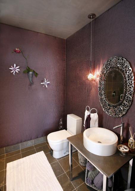 Urban Glam Guest Bedroom  Eclectic  Powder Room  dallas